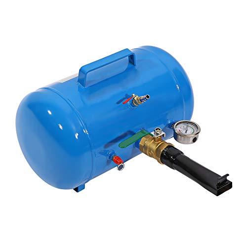 Weikeya Inflador de neumático Conveniente, Herramienta Azul Asiento inflador galón Air Bead Acción Válvulas 28,5 cm de Metal para camión