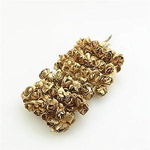 shinebear wholesale 144/lot one packs head 2cm gold silver plum artificial mini paper rose scrapbooking wedding decorations handicrafts – (color: silver) silk flower arrangements