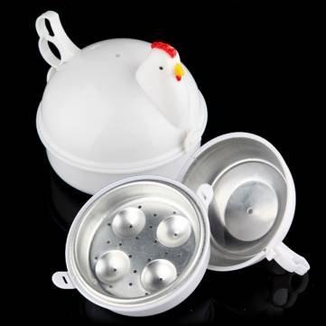 Micro-ondes de Souked 4 oeufs Cuisinière chaudière Braconnier poulet cuit en forme