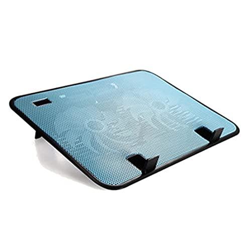 KJGHJ Soporte de RefrigeracióN para PortáTil Panel Dual Dual Fan Notebook Cooler Silent Portátil Cojín De Enfriamiento Soporte (Color : Black)