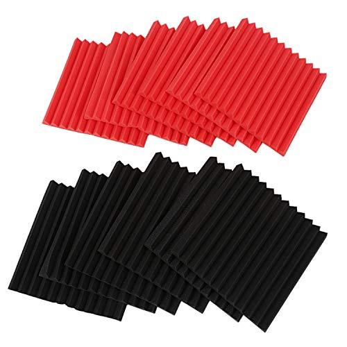 Baalaa 12 piezas de paneles acústicos de espuma acústica, azulejos acústicos de estudio de espuma de sonido cuñas de 1 x 12 pulgadas x 12 pulgadas