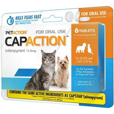 CapAction Oral Flea Treatment Cat 6ct