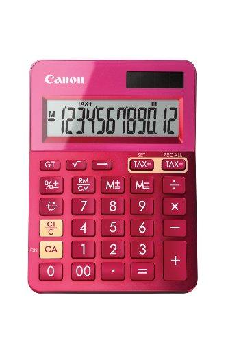Calculadora sobremesa Canon LS-123K Rosa