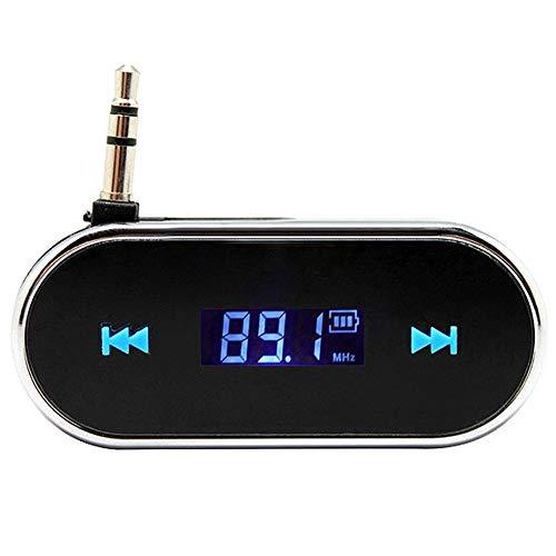 CAPTIANKN Transmisor FM, Adaptador De Radio De Coche AUX para iPad, iPhone...
