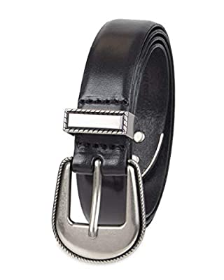 NYDJ Women's Plus Size 100% Leather Belt, Black Casual, 3X