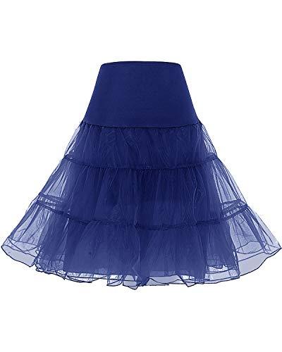 Bridesmay Enaguas Años 50 Vintage para Vestidos Faldas Cortas De Tul Mujer Cancan Tutu Rockabilly Navy S