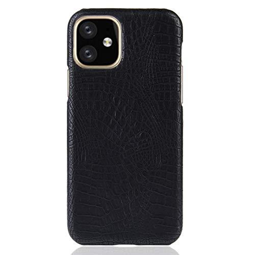 YMJJ Ultra Slim Fall für für Iphone11 / Pro/Pro Max, klassischen Krokodil-Haut-Muster PU-Leder Anti-Scratch-PC schützende Harte Fall-Abdeckung,Schwarz,for iphone11