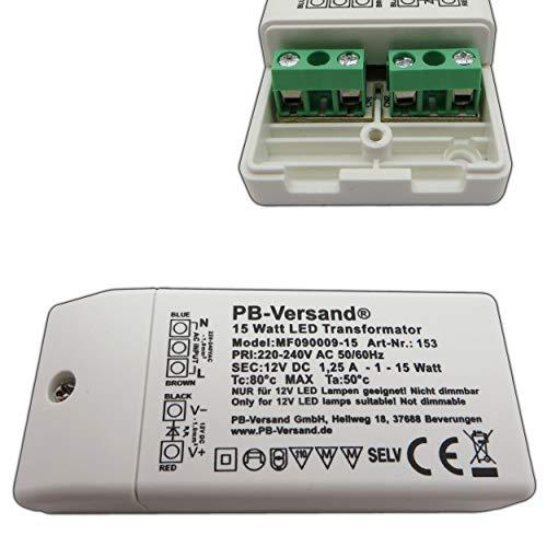 LED Leuchmittel Trafo 12V DC 0,5 - 15 Watt Typ: MF090009 Netzteil Treiber G4 Transformator