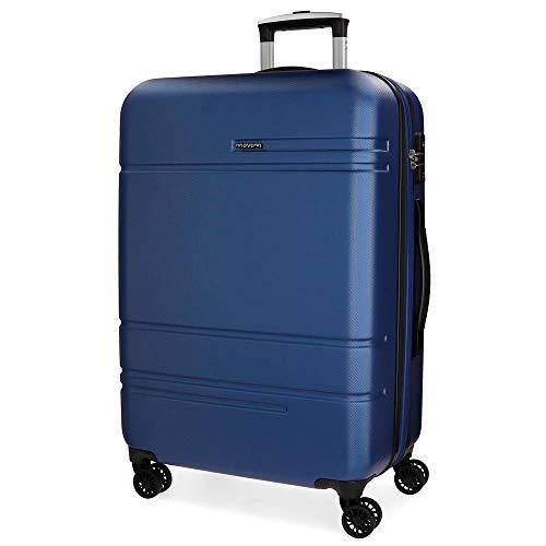 MOVOM Galaxy Maleta Grande Azul 54x79x31 cms Rígida ABS Cierre TSA 108L 4,7Kgs 4 Ruedas Dobles Extensible