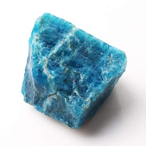 LULIJP 1 stück Natürlicher Apatit Kristall Raue Stein Roher Edelstein Mineral Probe Unregelmäßigen Kristall Dekoration Stein (Color : Blau, Size : Apatite81 100g)