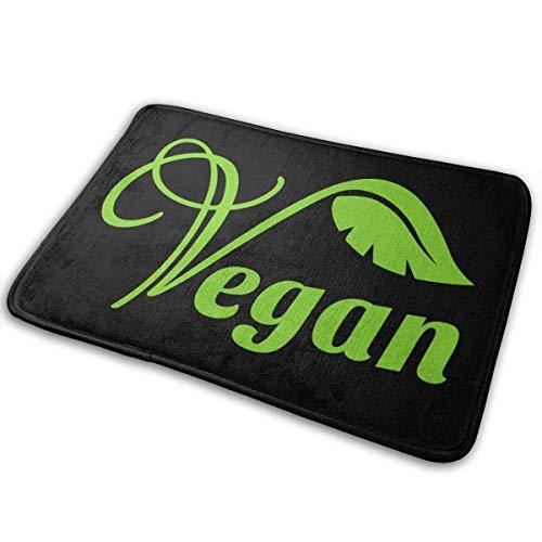 Felpudos para el hogar con Logotipo Vegano, Alfombrilla Antideslizante para baño, Cocina, Interior y Exterior única