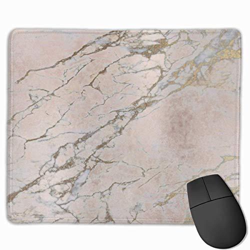 Perlrosa roségold puderpinsel marmor mauspad rutschfeste gummi gaming mauspad rechteckige mauspads...