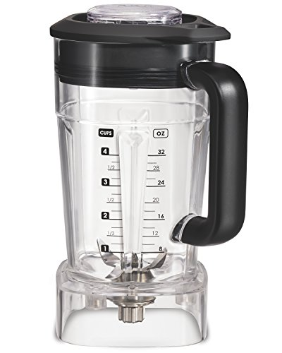 Wolf Gourmet High-Performance Blender, 64 oz Jar, 4 program settings, 12.5 AMPS, Blends Food, Shakes and Smoothies, Red Knob, Stainless Steel (WGBL100S)