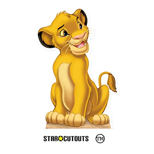 Star Cutouts Ltd SC1625 Simba Cub Offizieller Disney Amazing Lion King Pappaufsteller für Fans und Tierpartys