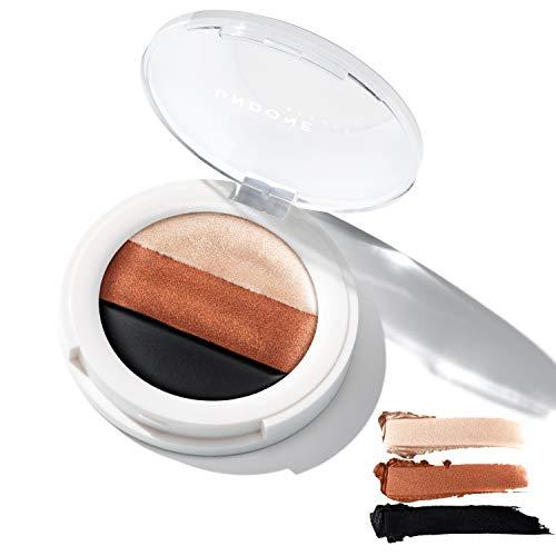 3-in-1 Cream Eye Palette. Highlighter / Primer, Eyeshadow & Liner. Castor Oil for Nourishing – UNDONE BEAUTY 3-in-1 Eye Palette. Long wear Base, High Pigment Shadow & Liner. Smokey Eye. EARTHLING