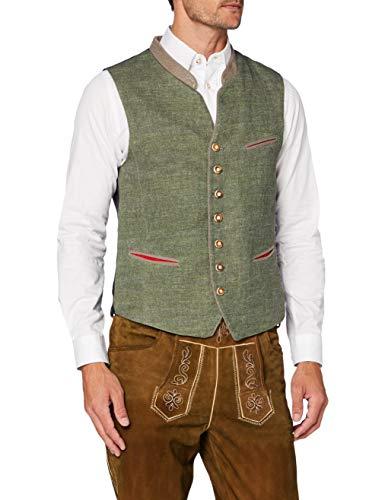 Stockerpoint Herren Weste Camillo Trachtenweste, Grün (Grün Grün), Small (Herstellergröße: 48)