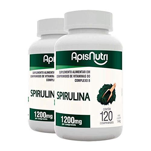 Kit 2 Spirulina Espirulina 500mg Apisnutri 120 comprimidos
