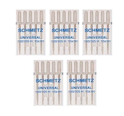 25Schmetz Universal Agujas para máquina de coser 130/705H 15x 1h tamaño 120/19