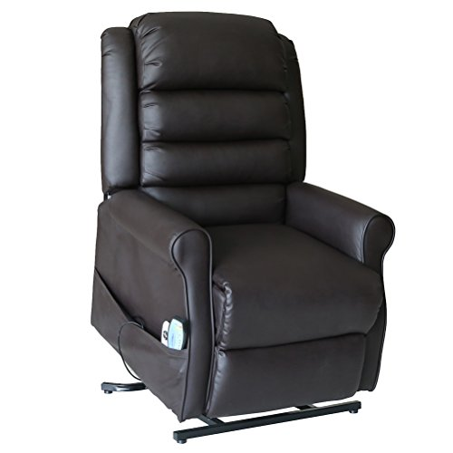 Recliner Power Lift Chair with Massage Heat with Control by Outdoor Sunshine (Coffee)