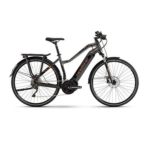HAIBIKE Sduro Trekking 6.0 Damen Pedelec E-Bike Fahrrad grau/schwarz/bronzefarben 2019: Größe: S