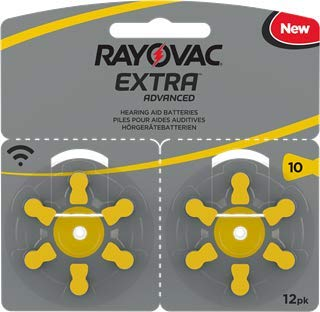 120 pile batterie per apparecchi acustici RAYOVAC EXTRA 10 gialle PR70