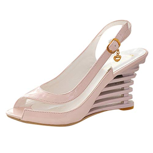 ♥ Loveso♥ Damen Pumps Plateau Sandaletten Fashion Abend Sandaletten High Heels Pumps Slingbacks Peep Toes Party Schuhe Bequem Casual
