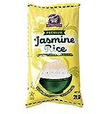 Natural Earth Products Gluten Free Thai Jasmine Rice, Medium Grain White Rice, Non GMO, Kosher Certified (2 Pound Bag)
