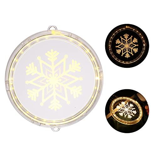3D Navidad decoración luz LED hada copo de nieve hada colgado/cinta ventana luz recargable pared adornos festival iluminación para en/exterior tienda