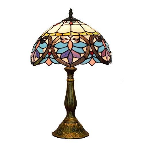 Allamp Norte de Europa Lámpara de Mesa Lámpara de Mesa Retro Barroco Europeo del Arte del Cristal de lámpara de Mesa de Noche Bar Restaurante Dormitorio lámpara de Mesa Lámparas de Mesa