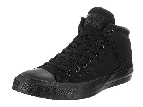 Converse Men's Street Canvas High Top Sneaker, Black, 11 M US