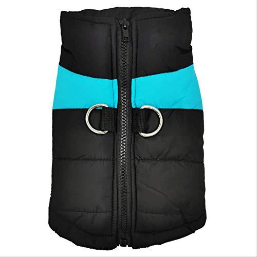 Liujingxue Huisdier kleding, pantser ski pak waterdicht katoenen jas, S, Blauw