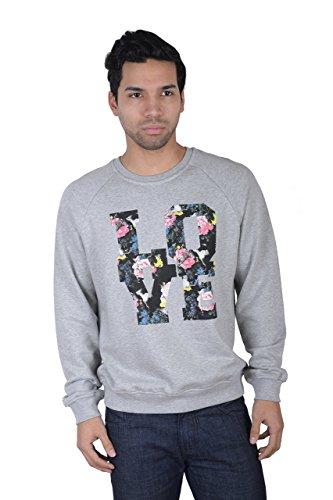 MSGM Men's Graphic Print Crewneck Sweatshirt US M IT 50