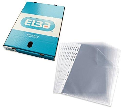 Fundas plástico Folio (A4) Elba. 10 unidades. Calidad 90 micras. Multitaladro.