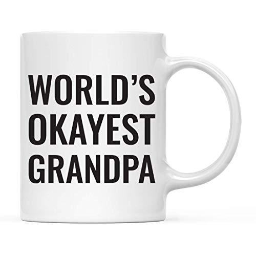 Tazas Familia Graciosa 11oz. Regalo de la mordaza de la taza de café, abuelo de Okat del mundo, para el regalo de cumpleaños chistoso único de la novedad sarcástica de la novedad