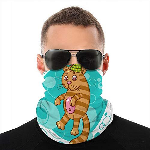 vbndfghjd Bandana-Schild für Damen und Herren, gegen Staub, Wind, Sonnenschutz, Cartoon-Katzenfigur