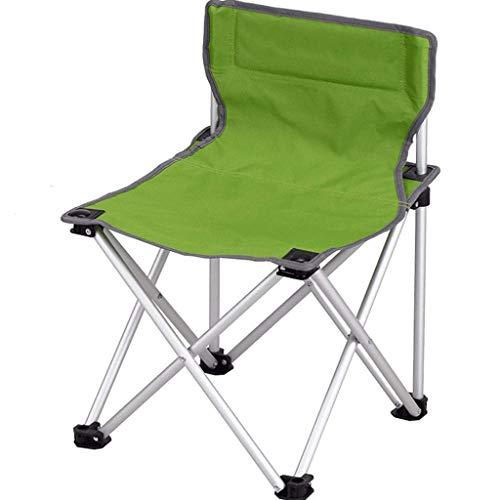 MMAXZ Silla Plegable portátil con Soporte para Vasos con reposabrazos y Bolsa de Transporte y Almacenamiento (Color : Green)