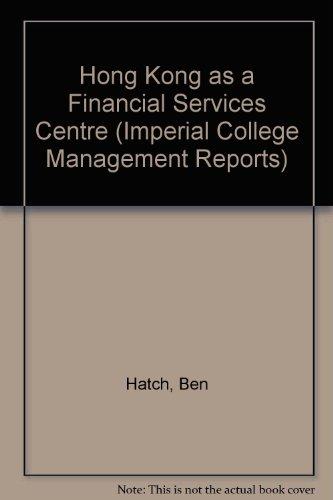 Hong Kong as a Financial Services Centre
