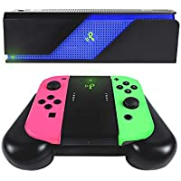 Powercast Wireless Charging Grip + PowerSpot Wireless Power Transmitter Bundle Pack Compatible with Nintendo Switch Joy-Con controllers