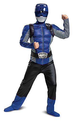 Disguise Conjunto con Mono musculoso clásico del Ranger Azul de Power Rangers Beast Morphers, Talla M