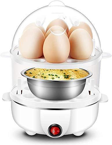 3 in 1 Durable Edelstahl elektrischer Eierkocher, Boiler, ON Button Switch, Double Power Off-Schutz, Convenient Kochen QIANGQIANG