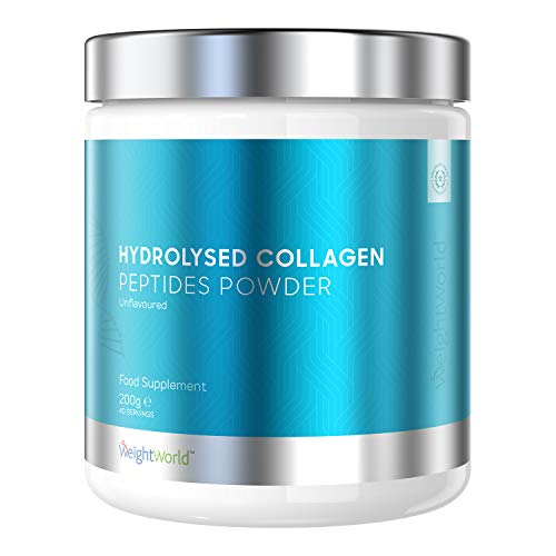 Peptidi di Collagene Bovino Idrolizzato in Polvere 200g - Collagene da Bere Estratto da Fonte Bovina - Polvere Proteica per Diete Keto, Low Carbs, Pale - WeightWorld