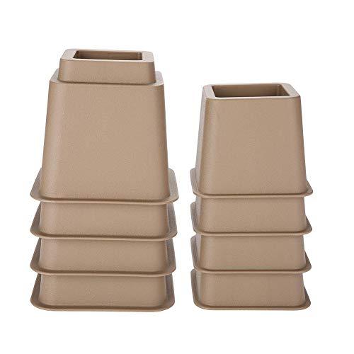 Yinuoday Elevadores de Muebles Cama Ajustable Silla Sofá Elevador Pies Elevador Conjunto 4 X 5 Y 4 X 3 Negro