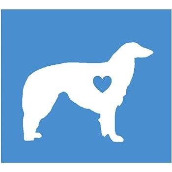 Samoyed big heart K564 6 Inch sticker dog Window Decal