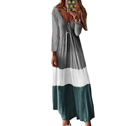 baratos y buenos Vestido largo elegante para mujer Vestido boho maxi de talla grande Vestido de noche informal Elegante Sexy … calidad