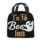 GYTHJ La bolsa de asas del almuerzo, bolsa de comida aislada, moda Halloween Fab Boo impreso para adulto