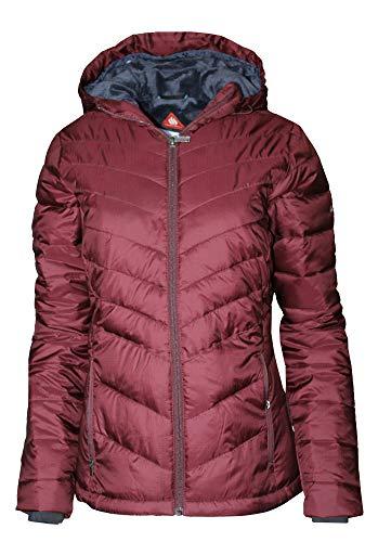 Columbia Women's Discovery Peak III Omni Heat Hooded Puffer Jacket (Bloodstone, XS)