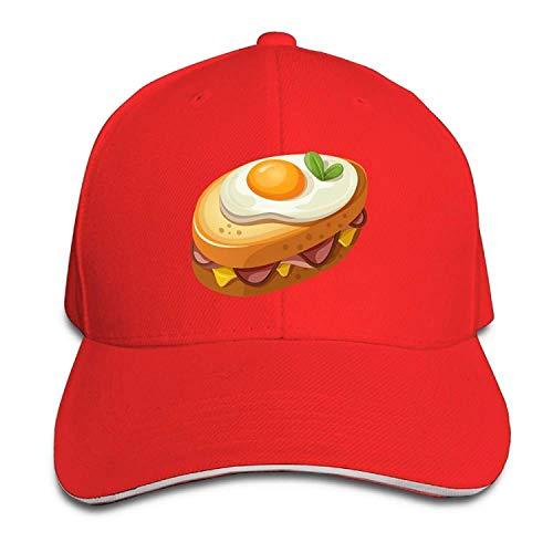 Clothing decoration Egg Sandwich Cotton Adjustable Peaked Baseball Cap Adult Sandwich Hat