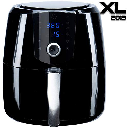 [2019] Air Fryer XL Best 5.5 QT Extreme Model 8-in-1 By (B. WEISS) Family Size Huge capacity,With Airfryer accessories; PIZZA Pan, (50 Recipes Cook Book),Toaster rack, Cooking Divider. XXL (Renewed)