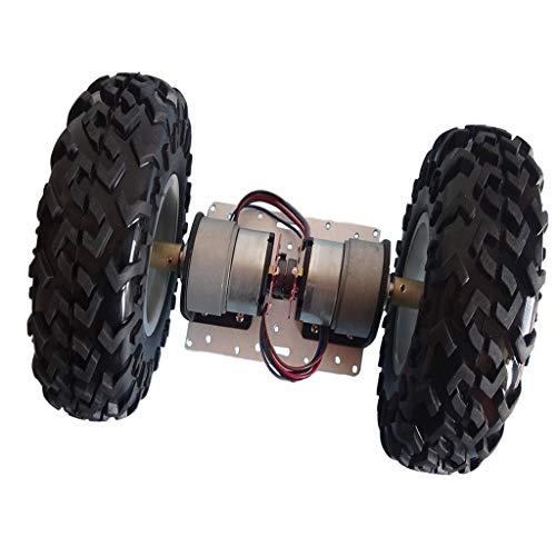 Shiwaki Robot Car Chasis Kits DC Slot Car Parts 130mm Ruedas para...