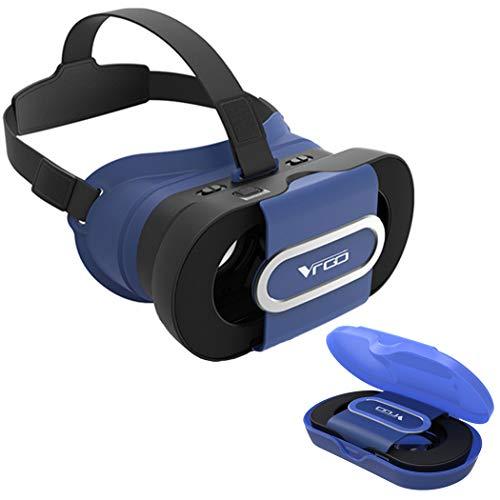 VR Brille,3D VR Virtual Reality Headset,für 3D Filme und Spiele, Kompatibel mit iPhone, Samsung Sony und Android Handy mit 4.0-6.0 Zoll,Blau